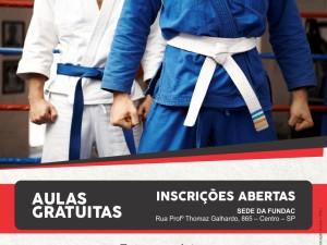 INSCRIÇÕES ABERTAS PARA AULAS DE JUDÔ – VAGAS LIMITADAS